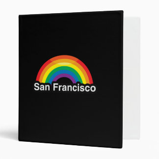 SAN FRANCISCO LGBT PRIDE RAINBOW -.png 3 Ring Binders