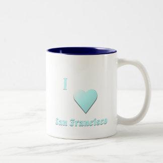San Francisco -- Light Blue Two-Tone Coffee Mug