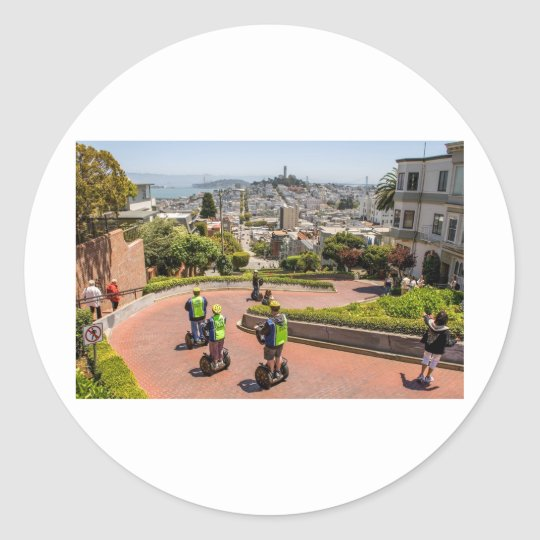 San Francisco Lombard St Classic Round Sticker