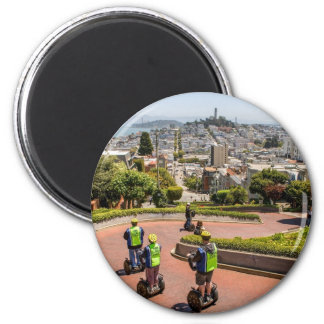 San Francisco Lombard St 2 Inch Round Magnet