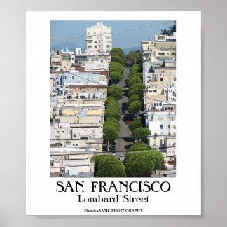 SAN FRANCISCO - Lombard Street Poster