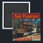 """San Francisco Magnet<br><div class=""""desc"""">Turning the cable cars at Powell &amp; Market</div>"""