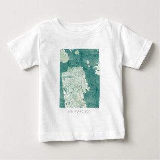 San Francisco Map Blue vintage watercolor Baby T-Shirt
