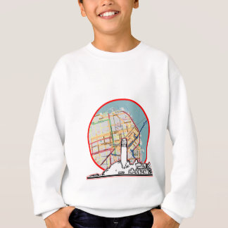 San Francisco Map jGibney The MUSEUM Zazzle Gifts Sweatshirt