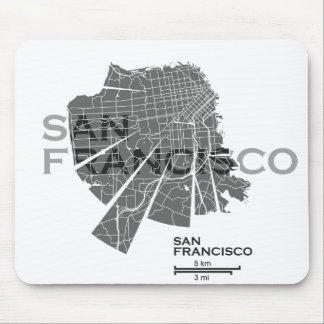 San Francisco Map Mousepad