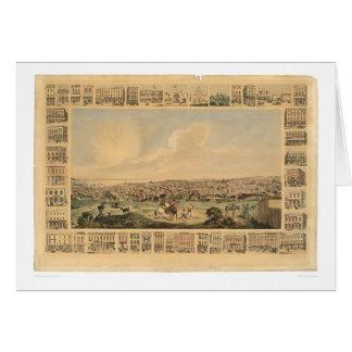 San Francisco, mapa panorámico 1860 (1162A) del CA Tarjeta De Felicitación