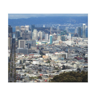 San Francisco Market Street Canvas Print