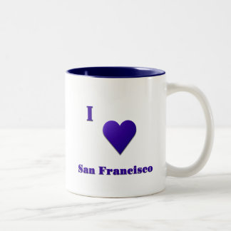 San Francisco -- Midnight Blue Two-Tone Coffee Mug