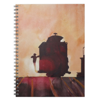 San Francisco mit Cable Car in sunset Notebook