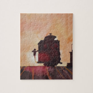 San Francisco mit Cable Car in sunset Puzzles