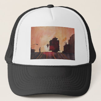 San Francisco mit Cable Car in sunset Trucker Hat