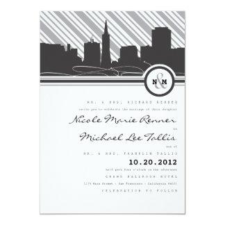 "San Francisco Monogram Wedding Invitation 5"" X 7"" Invitation Card"