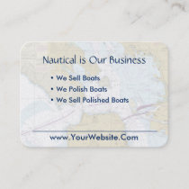 Nautical business cards nauticalboutique san francisco nautical chart clean fresh blue tan business card colourmoves