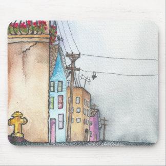San Francisco Neighborhood Watercolor Mouse Pad