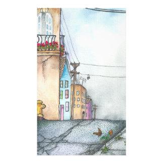 San Francisco Neighborhood Watercolor Photo Print