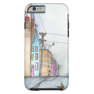 San Francisco Neighborhood Watercolor Tough iPhone 6 Case
