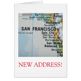 San Francisco  New Address announcement