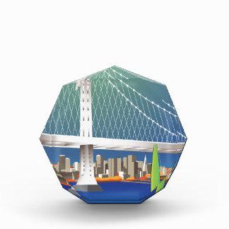San Francisco New Oakland Bay Bridge Cityscape Acrylic Award
