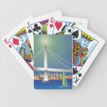 San Francisco New Oakland Bay Bridge Cityscape Bicycle Playing Cards
