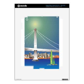 San Francisco New Oakland Bay Bridge Cityscape Decal For iPad 3