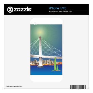 San Francisco New Oakland Bay Bridge Cityscape iPhone 4 Decal