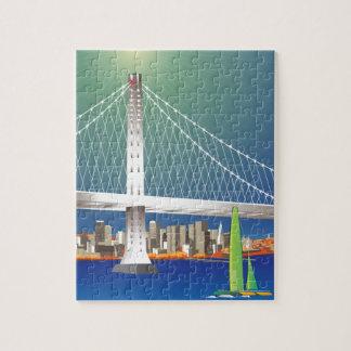 San Francisco New Oakland Bay Bridge Cityscape Jigsaw Puzzle