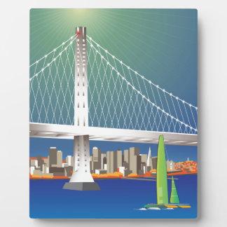 San Francisco New Oakland Bay Bridge Cityscape Plaque