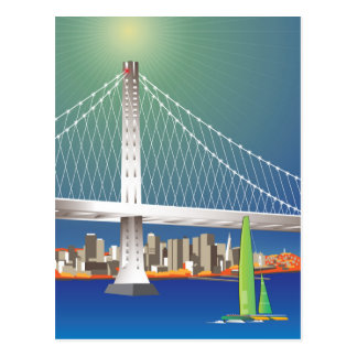 San Francisco New Oakland Bay Bridge Cityscape Postcard