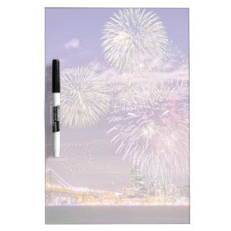 San Francisco New Year Fireworks Dry-Erase Board