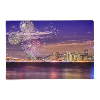 San Francisco New Year Fireworks Placemat