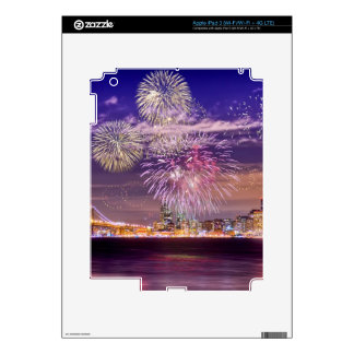 San Francisco New Year Fireworks Decals For iPad 3