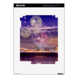 San Francisco New Year Fireworks Skin For iPad 3