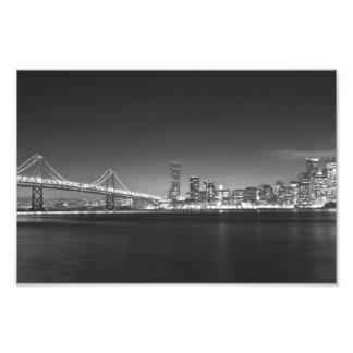 San Francisco Night Black White Photo
