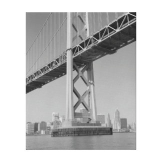San Francisco Oakland Bay Bridge Tower Gallery Wrap Canvas
