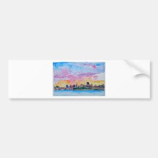 San Francisco of the dawn sunset Bumper Sticker