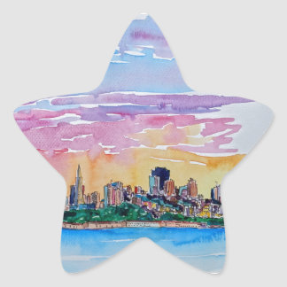 San Francisco of the dawn sunset Star Sticker