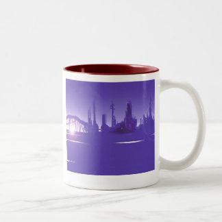 San Francisco of the future Two-Tone Coffee Mug