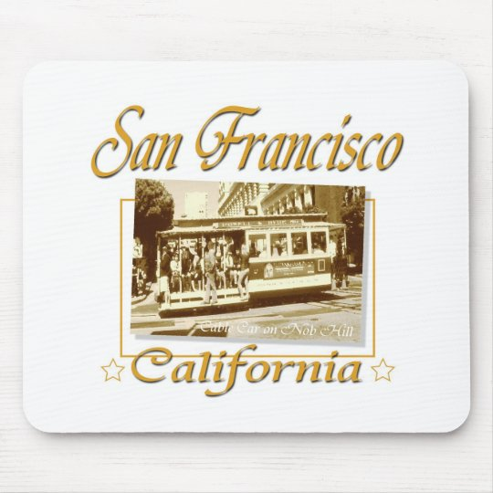 San Francisco Old Cable Car Mouse Pad
