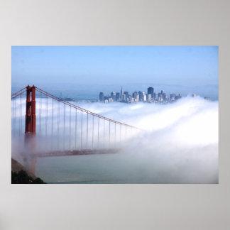 San Francisco over Fog Poster
