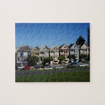 Beach Themed San Francisco Painted Ladies #4 Jigsaw Puzzle