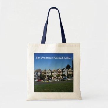 Beach Themed San Francisco Painted Ladies #4 Tote Bag