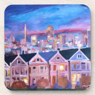 San Francisco  Painted ladies Drink Coasters