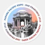San Francisco Panama Pacific Expo Round Sticker
