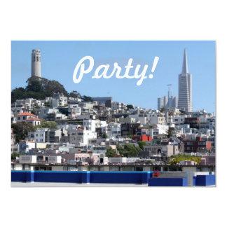 San Francisco Panorama 5x7 Paper Invitation Card