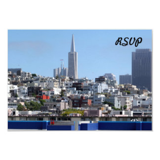 San Francisco Panorama 3.5x5 Paper Invitation Card