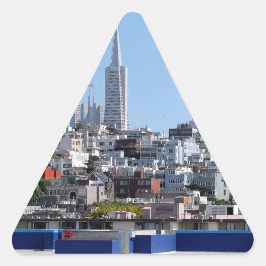 San Francisco Panorama Triangle Sticker