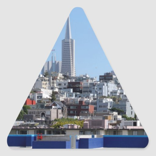 San Francisco Panorama Triangle Stickers