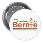 San Francisco para Bernie Pin Redondo De 3 Pulgadas