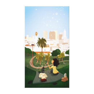 "San Francisco Park Art ""Simple Pleasures"" Ex Large Gallery Wrapped Canvas"