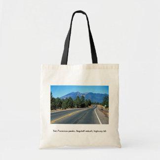 San Francisco peaks, flagstaff rebuilt, highway 66 Bags